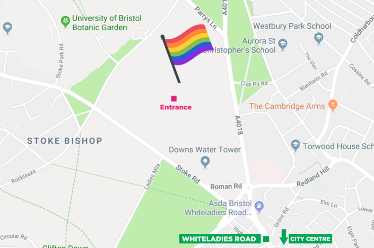Pride Location Map